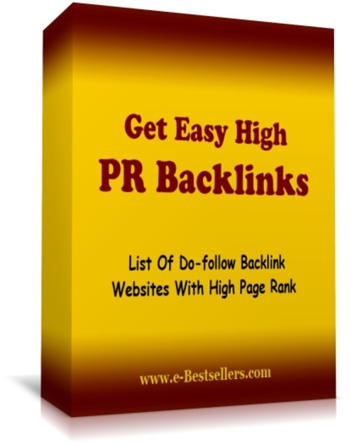 Product picture Get Easy High PR Backlinks
