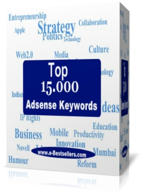 Product picture Top 15000 Adsense Keywords: High Paying Adsense Keywords