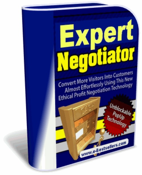 Product picture Expert Negotiator: Convert More Visitors Into Customers