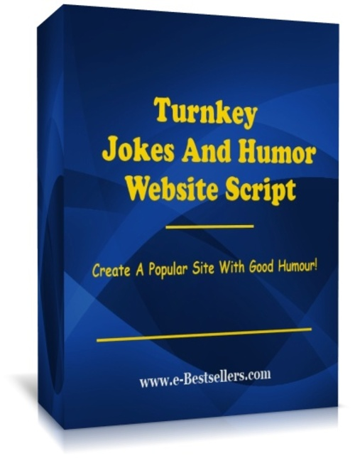Product picture  Turnkey Jokes And Humor Website Script