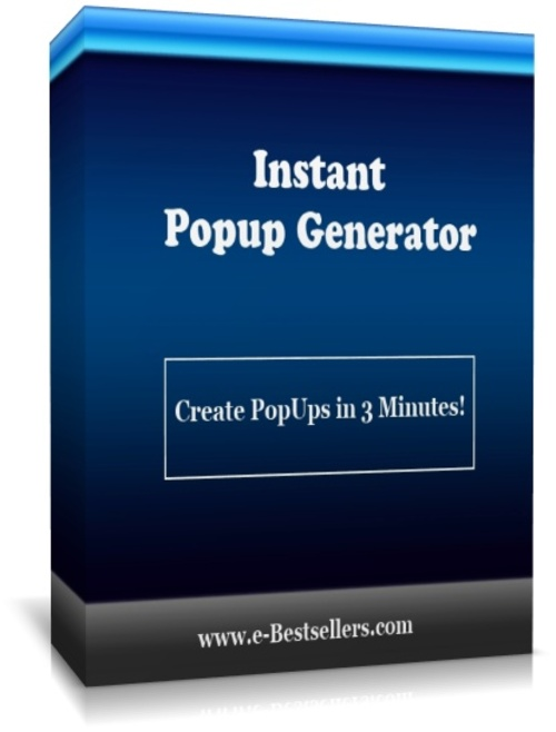 Product picture Instant Popup Generator Software: Create PopUps in 3 Minutes