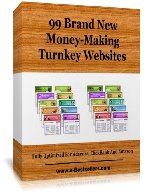 Product picture 99 Brand New Money-Making Turnkey Websites