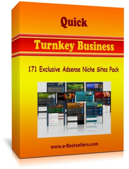 Product picture Quick Turnkey Business: 171 Exclusive Adsense Niche Sites